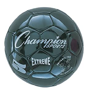 New Champion Extreme Series Size 4 Soft Touch Butyl Bladder Soccer Ball Black by Champion