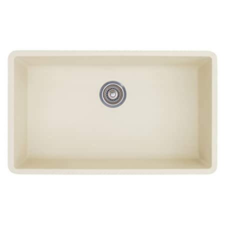 Blanco 513-410 Precis Super Single Bowl Kitchen Sink, Biscuit Finish
