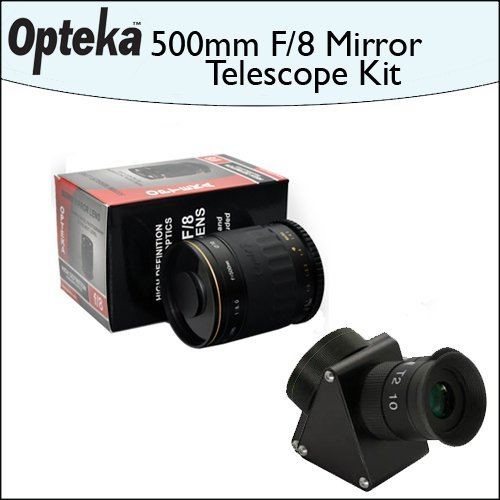 Opteka 500Mm F/8 Hd Telephoto Mirror Lens + Lens Converter To Telescope Kit