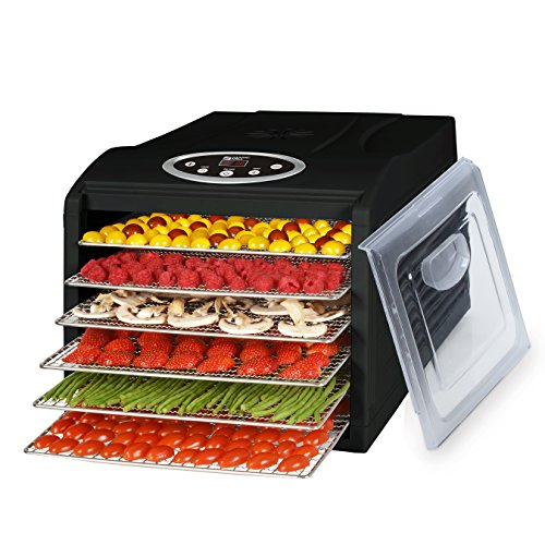 MAGIC MILL PRO Countertop Food Dehydrator, 6 Stainless Steel Drying Shelves, Digital 8 Preset Temperature controls and Timer (Waring Pro Dehydrator Accessories compare prices)