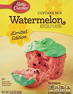 Amazon.com : Betty Crocker Watermelon Cake Cupcake Mix ...