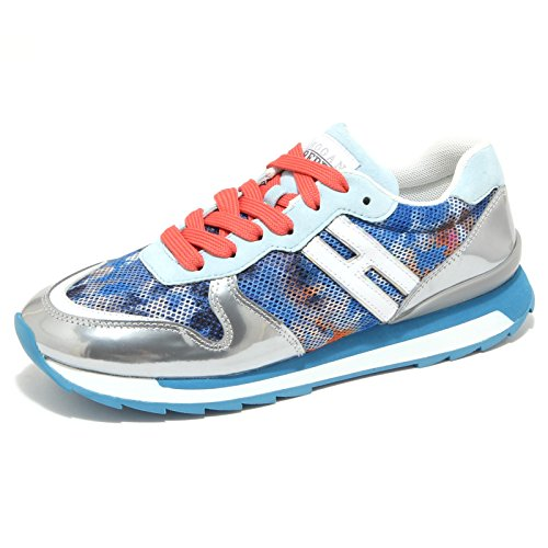 9751M sneaker HOGAN REBEL scarpe donna shoes woman blu argento [38.5]