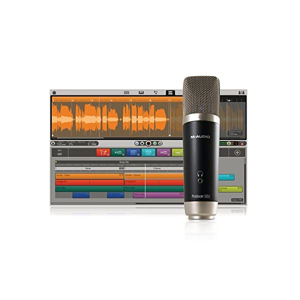 Micrófono M-Audio para grabación de estudio digital, trípode, estuche y cable USB incluidos