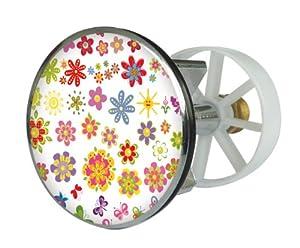 Excenterstopfen Metall 38 mm Design Sommerblüten