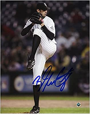 "Brandon McCarthy Chicago White Sox Autographed 8"" x 10"" White Uniform Pitching Photograph - Fanatics Authentic Certified"