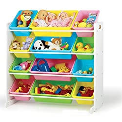 [Best price] Kids&#039 - Tot Tutors Toy Organizer Storage Bins, Pastel - toys-games