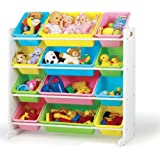 Tot Tutors Toy Organizer Storage Bins, Pastel