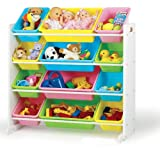 511WZxY2suL. SL160  Tot Tutors Toy Organizer Storage Bins, Pastel