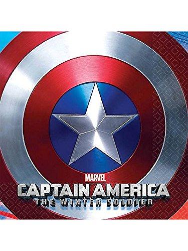 Captain America 'Winter Soldier' Small Napkins (16ct) - 1