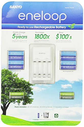 Sanyo Eneloop Ni-MH Charger & Battery Pack (8