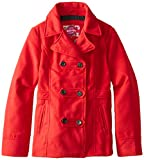 Dollhouse Big Girls'  Classic Peacoat with Ruffle Back