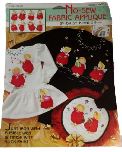 Daisy Kingdom No-Sew Fabric Applique Michel's Angels