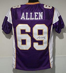 Jared Allen Autographed Minnesota Vikings Purple Size XL jersey by DenverAutographs