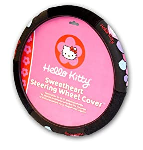 Officially Licensed Hello Kitty Steering Wheel Cover from Plasticolor