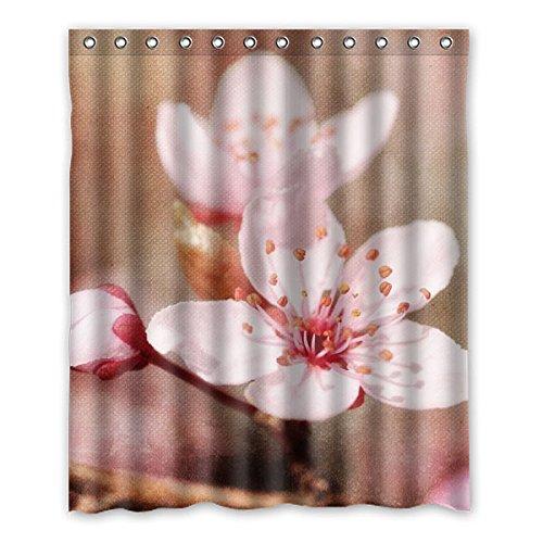 """Fleur cerise cherry blossom floral Rideau de Douche 100% polyester bain décor étanche Rideaux 152 cm x183 cm (60 """"x72"""")"""