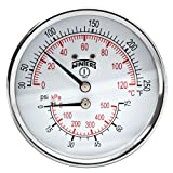 Winters TTD Series Steel Dual Scale Tridicator Thermometer with 2