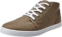 Hub Mens Frisco C6 Cl Khaki and White Canvas Sneakers