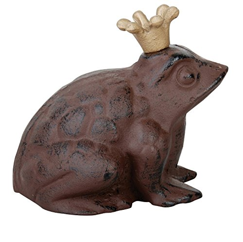 Esschert Design Frog Prince Statue - large (Cast Iron Frog Prince compare prices)