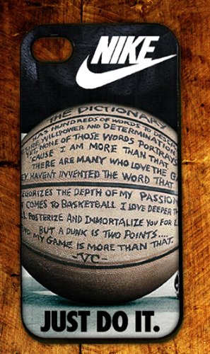Custom RUBBER Nike Logo Quote Basketball case