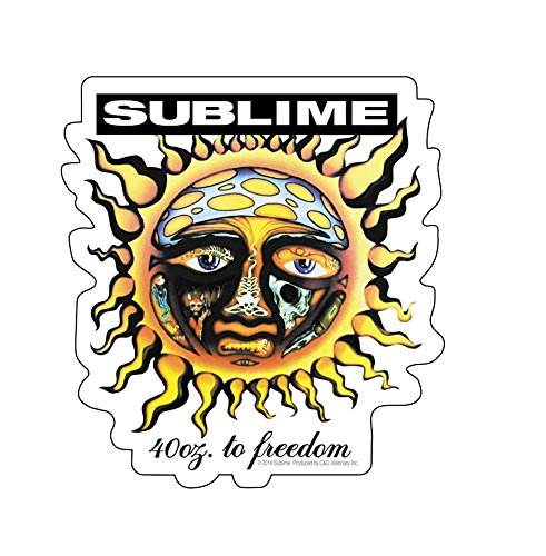 Licenses Products Sublime Sun Sticker, 40-Ounce