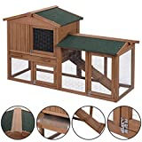 Tangkula-58-Rabbit-Hutch-Chicken-Coop-Wooden-Bunny-Animal-Hen-Cage-Backyard-Garden