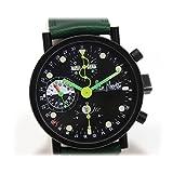 Alain Silberstein(アランシルベスタイン)クロノグラフ 初期モデル 自動巻 裏スケ メンズ腕時計 PVD×革ベルト [中古]