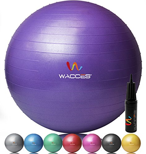 Wacces Anti-Burst Fitness Exercise Stability and Yoga Ball with Pump ( Purple - 75 CM ) (Extreme Big Curls compare prices)