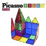PicassoTiles 100 Piece Set 100pcs Mag...