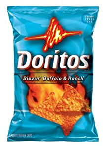 Doritos Tortilla Chips - Blazin Buffalo Ranch 12 Oz Pack Of 3