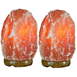 Indus Classic Set of 2 Himalayan Salt Lamps, 7-10 lbs each