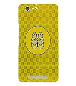 PRINTVISA Abstract Yellow Ladies Footwear Case Cover for Gionee Marathon M5