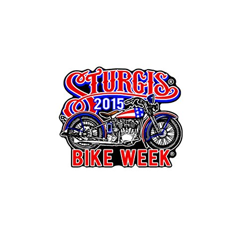 Hot Leathers Official 2015 Sturgis Motorcycle Rally 75th Anniversary USA Bobber Patch