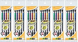 BIC(R) Mechanical Pencils, 0.7 mm, Black Barrel, 5 Count (Pack of 6)