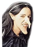 Nariz de bruja adhesiva con verruga bulto napia miedo hechicera goma halloween accesorios