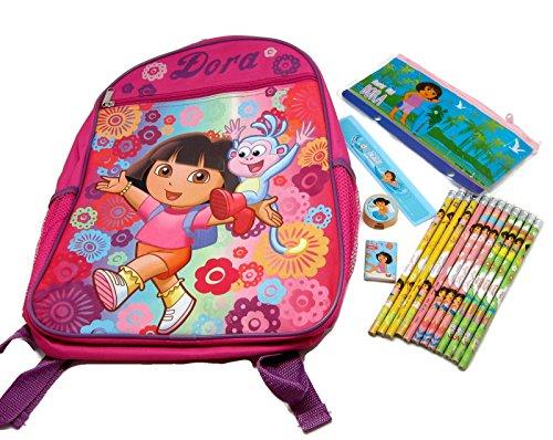 [Dora Backpack Bundle, 3 Items: Dora Backpack, Pencil Set, Pencil Case Stationery Set] (Dora Diego And Boots)