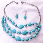 Turquoise Earrings and Necklace Set