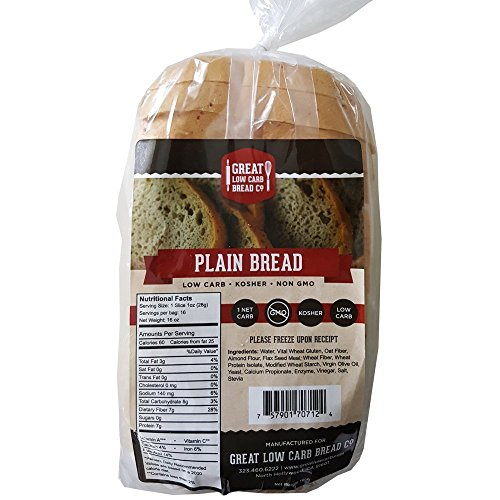 Great Low Carb Bread Co. - Plain - 1 Loaf (Low Carb Breads compare prices)