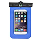 Underwater Waterproof Case Pouch dry bag For Iphone 6 6 Plus , Universal Waterproof Case For Galaxy S5, S4 S3, HTC One, Galaxy Note 3-Blue