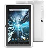 "ProntoTec 7"" Android 4.4 KitKat Tablet PC, Cortex A8 1.2 GHz Dual Core Processor,512MB / 4GB,Dual Camera,G-Sensor (White)"