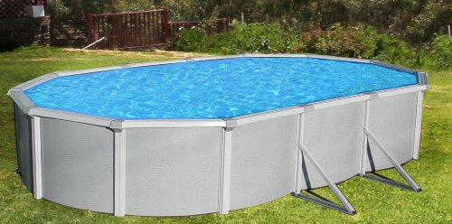Blue Wave Samoan Oval 52 Inch Above Ground Pool - 12 Ft X 24 Ft