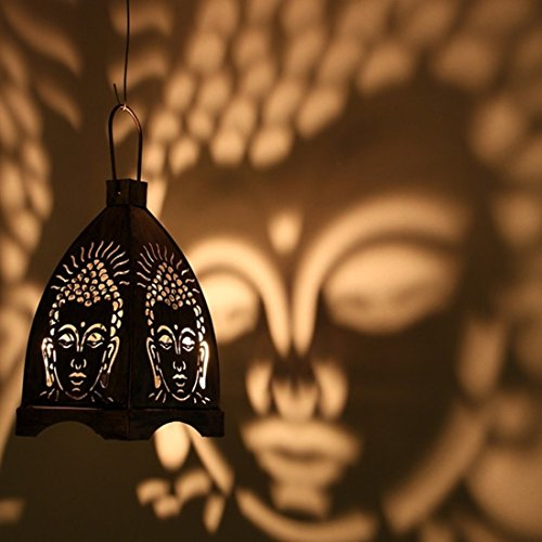 A-To-Z-Traders-Shadow-Gautam-Buddha-Hanging-Tealight-Candle-Holder-Home-Decor-Diwali-Gift-Decoration-for-your-Home-Temple-and-1-Free-Hand-Shape-LED-Keychain