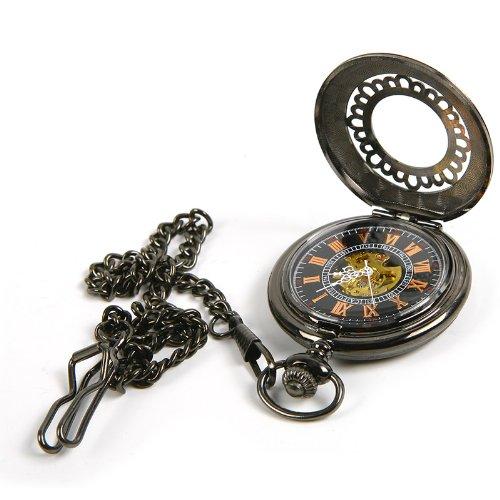 Pocket Watch Chain Mechanical Hand Wind Vintage Antique Look Mens Unisex