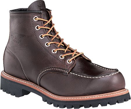 Men's Red Wing 6 Rugged Moc Toe Leather Work Boots