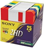 """Sony 2HD 3.5"""" IBM Formatted Floppy Disks (25-Pack) (Discontinued by Manufacturer)"""