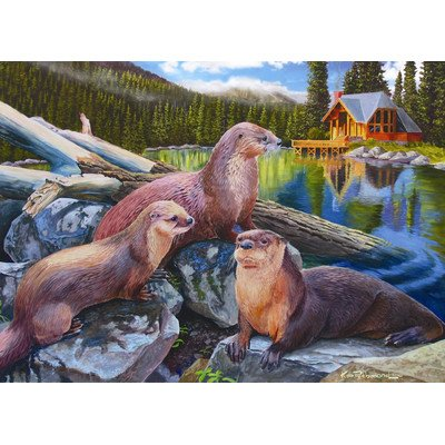 River Otter Family 1000 Piece Puzzle