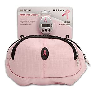 Life Line 4620 Pink Ribbon Hip Pack Pedometer Pink - Case Pack 10