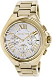 Michael Kors Women's MK5635 Gold Stainless-Steel Quartz Watch with White Dial