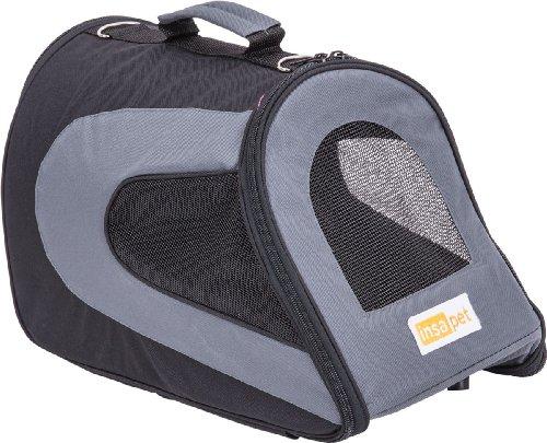insapet-Hundetransporttasche-Tragetasche-JOURNEY-grau-Transporttasche-fr-Hunde-Transportbox-S-45-x-25-x-23cm