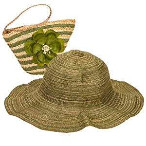 "Green Sun Lily ""Sun on the Run"" Folding Sun Hat"