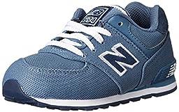 New Balance KL574 Pique Polo Pack Running Shoe (Infant/Toddler/Little Kid/Big Kid), Blue/Black, 2 M US Infant